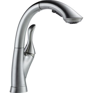 Delta Linden Pull Down Touch Single Handle Kitchen Faucet with Diamond Seal Technology