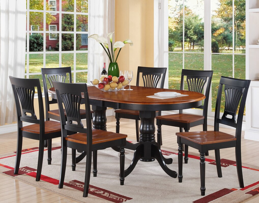 The cube medium table and 4 chairs is also available in a light finish - Germantown 7 Piece Dining Set