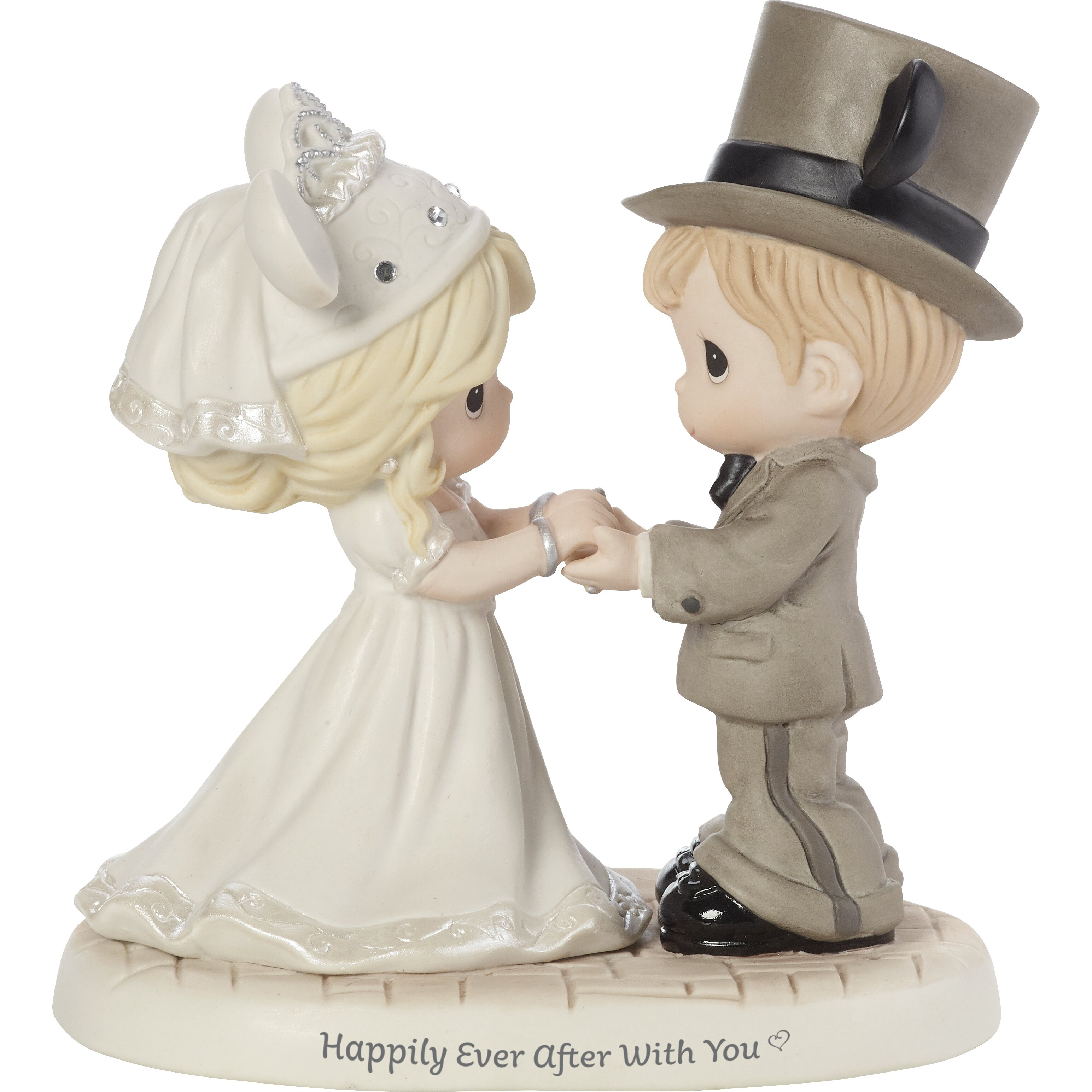 Precious Moments Disney Showcase Happily Ever After With You Wedding Couple Porcelain Figurine Wayfair