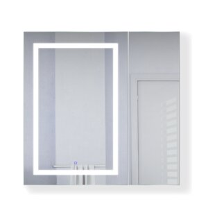 Compare prices Vandergriff 36 x 36 Recessed or Surface Mount Medicine Cabinet with 3 Adjustable Shelves and LED Lighting ByOrren Ellis