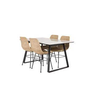 Mabel Dining Set With 4 Chairs By Canora Grey