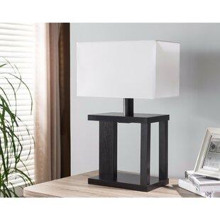 Orren Ellis Janicki 23.75 inch Table Lamp with Rectangular Shade