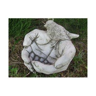 Hendren Bird In Hand Stone Bird Bath By Sol 72 Outdoor