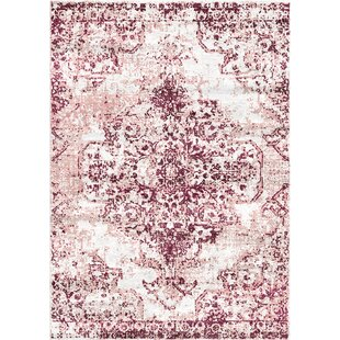 Great Price Aliza Handloom Purple Area Rug By Bungalow Rose