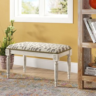 Tyre Upholstered and Wood Bench by Bloomsbury Market