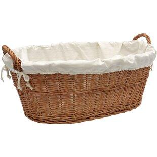 Merveilleux Linen Wicker Laundry Basket