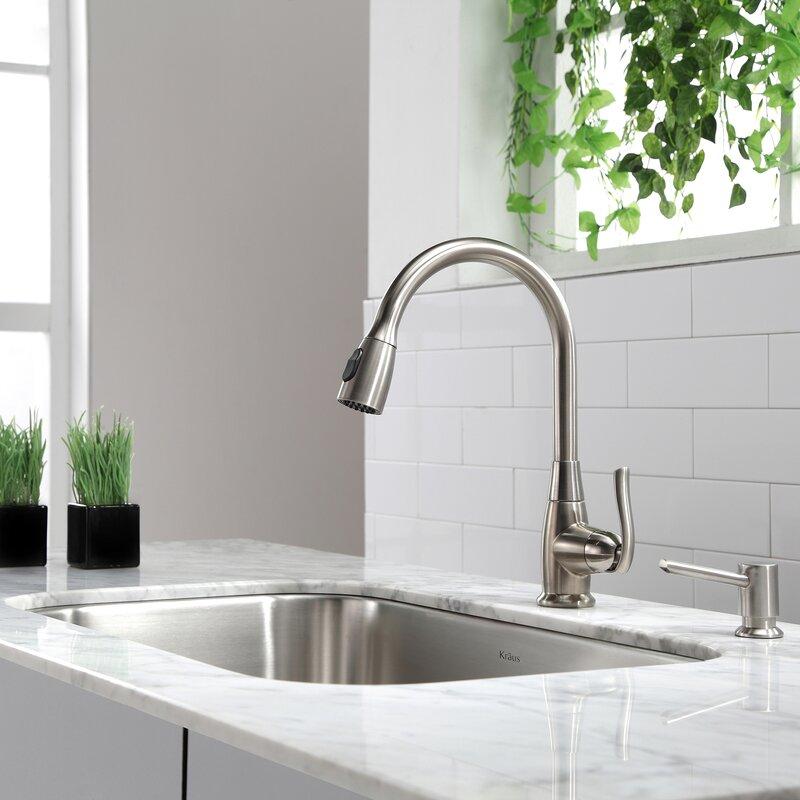 kpf 2230ch sn orb kraus premium faucets pull down single handle rh wayfair com