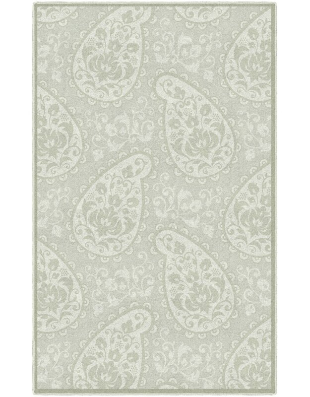 Ophelia & Co. Cragmont Paisley and Pastel Floral Beige Area Rug, Size: Rectangle 76 x 10