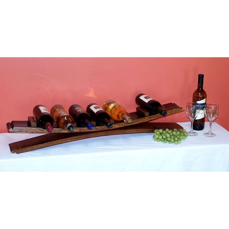 2 Day 7 Bottle Tabletop Wine Bottle Rack