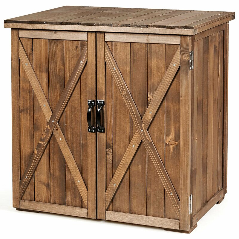 FORCLOVER Outdoor Solid Wood Cabinet