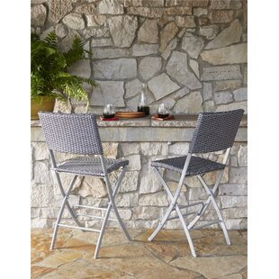 Folding Patio Bar Stools Youll Love Wayfair - Metal folding patio table and chairs