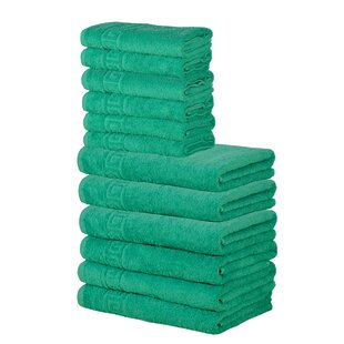 Yonker 12 Piece 100% Cotton Towel Set