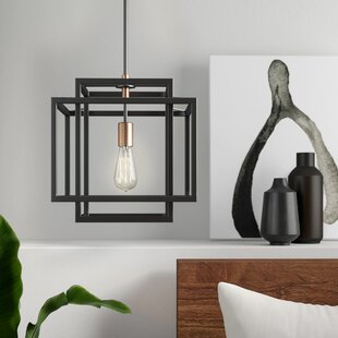 Dewees 1-Light Square/Rectangle Pendant by Mercury Row