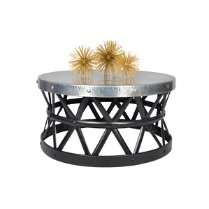 Drum Hammered Coffee Table by Fashion N You by Horizon Interseas