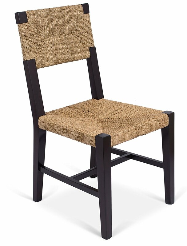 Rush Weave Solid Wood Dining Chair