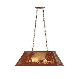 Meyda Tiffany Quail Hunter with Dog 6-Light Pool Table Pendant