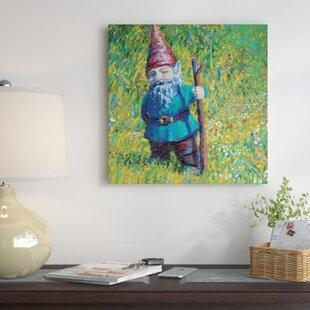 Iris Scott   U0027Garden Gnomeu0027 Painting Print On Canvas