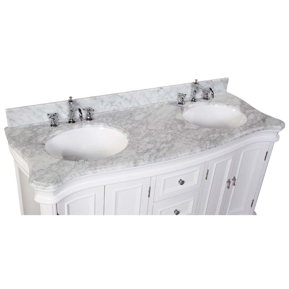 KBC Katherine  Double Bathroom Vanity Set  Reviews Wayfair - White bathroom vanity with sink