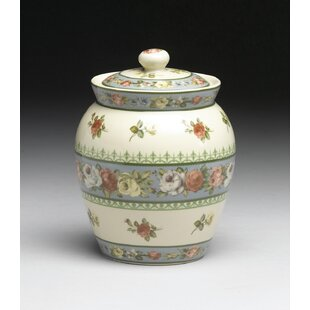 Floral Design Porcelain 1 qt. Storage Jar