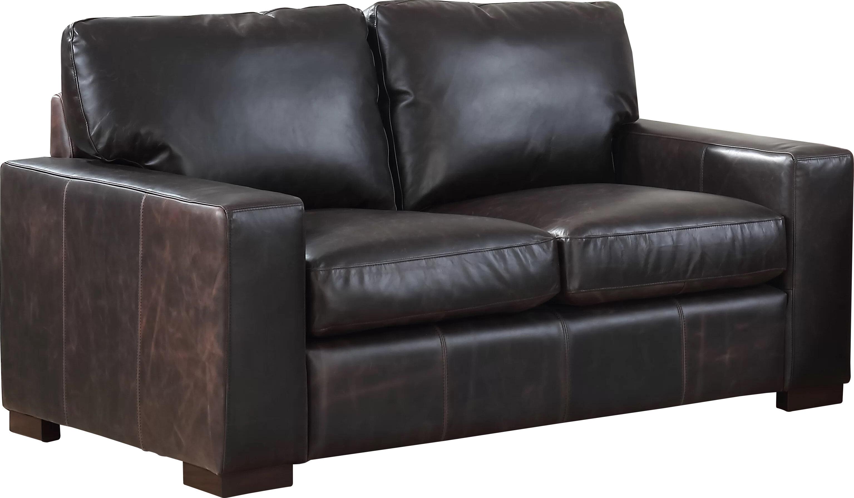 Three Posts Lincolnton Genuine Leather 64 Square Arm Loveseat Wayfair