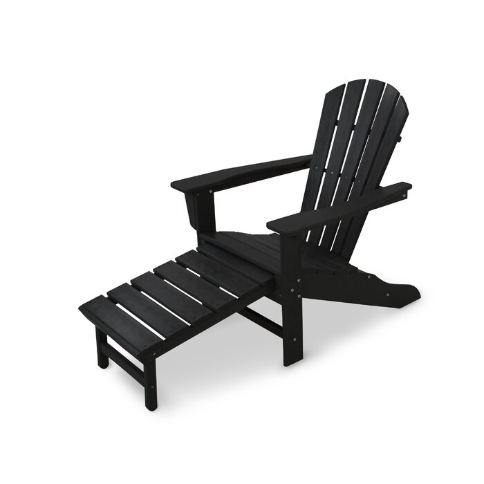 Pleasant Palm Coast Plastic Adirondack Chair With Ottoman Machost Co Dining Chair Design Ideas Machostcouk