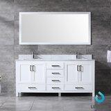 Michaella 72 Double Bathroom Vanity Set with Mirror by Wrought Studio™