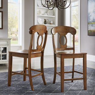 Pippen Napoleon 24 Bar Stool (Set of 2) by Alcott Hill