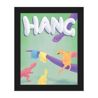 Click Wall Art Flush Dinosaur Framed Graphic Art On Wrapped Canvas Wayfair