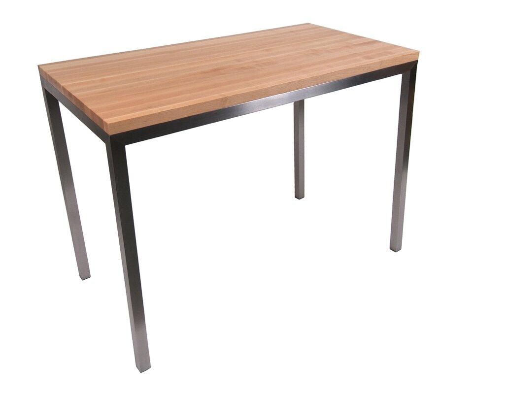 Metropolitan Designer Prep Table With Wood Top