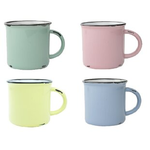 Tinware Coffee Mug (Set Of 4) by Canvas Home 2019 Online