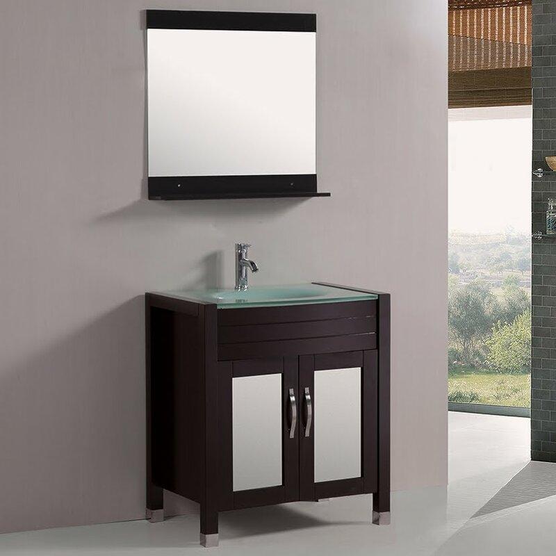 Kokols 30 Single Bathroom Vanity Set With Mirror Wayfair