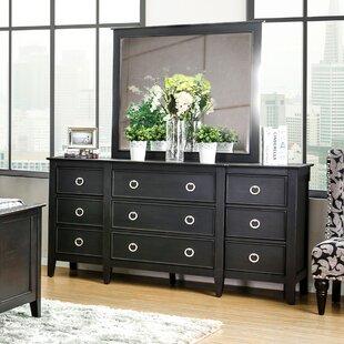 Red Barrel Studio Newstead 9 Drawer Dresser with Mirror