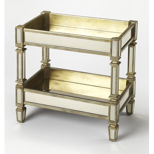 Dabria Mirrored Serving Bar Cart by Butler