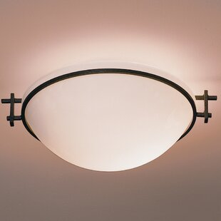 Hubbardton Forge Moonband Medium 1-Light Flush Mount