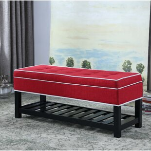 Alcott Hill Chastain Piping Tufted Shoe Upholstered Storage Bench