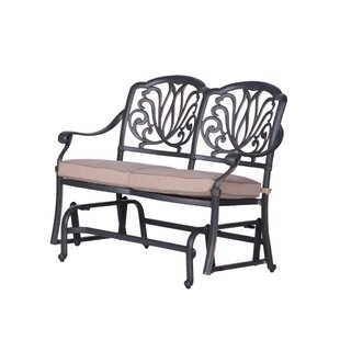 Fleur De Lis Living Bean Glider Bench with Cushions