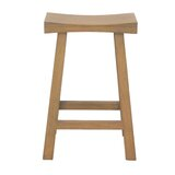 Alfreda Solid Wood 26 Counter Stool by Highland Dunes