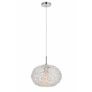 Orren Ellis Bainum 1-Light Globe Pendant