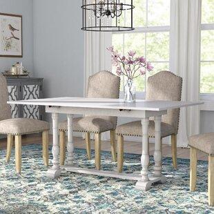Lilian Farmhouse Folding Trestle Extendable Dining Table By Fleur De Lis Living