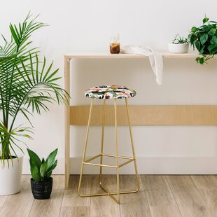 Marta Barragan Camarasa Brushstrokes of Nature I 28 Bar Stool East Urban Home