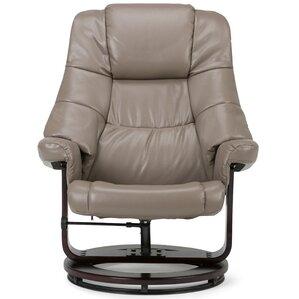 ledi manual swivel glider recliner with ottoman