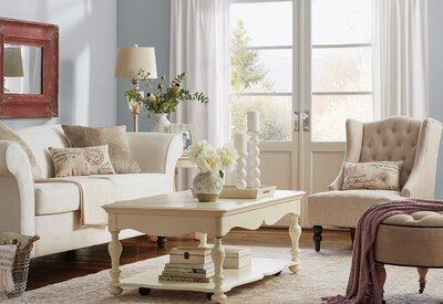 French Country Living Room Design Photo by Room Ideas