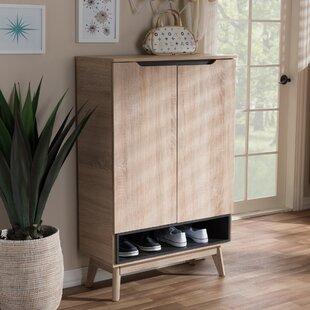 Reviews Ezra 18 Pair Shoe Storage Cabinet ByLangley Street