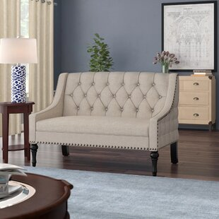 Christiansburg Tufted Standard Loveseat by Alcott Hill