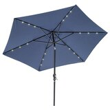 Herlinda Solar Lighted 9 Market Umbrella