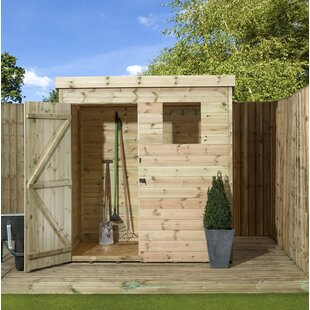 Aylesbury 7 Ft. W X 7 Ft. D Shiplap Pent Wooden Shed By Union Rustic