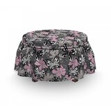 Butterfly Romantic Summertime 2 Piece Box Cushion Ottoman Slipcover Set by East Urban Home