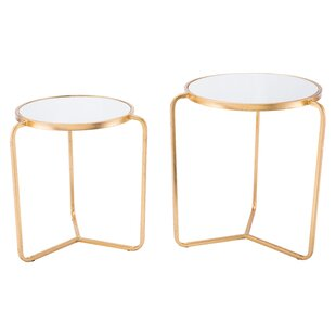 Britannia 2 Piece Nesting Tables by Mercer41