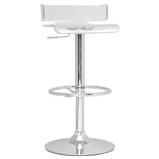 Adjustable Height Swivel Bar Stool by Chintaly Imports Amazingt
