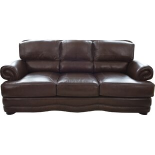 Darby Home Co Eldora Leather Sofa